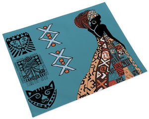 African Queen Place Mat - Blue (Set of 4)