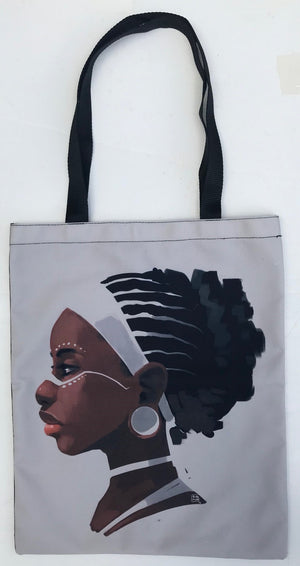 Beauty with Braids Tote Bag