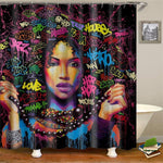 Graffiti Woman Shower Curtain