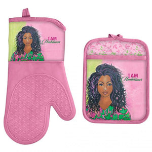 I Am Ambitious Oven Mitt and Pot Holder Set
