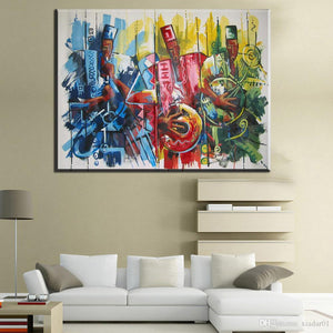 Marketplace Musicians Canvas (Unframed)
