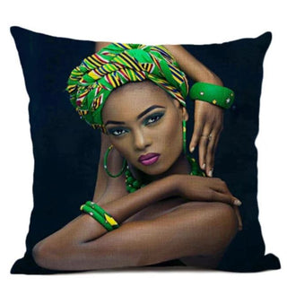 Queen In Green Pillow