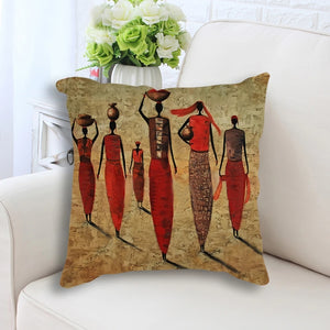 Return from the Market II Pillow