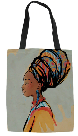 Woman In Head Wrap Tote Bag