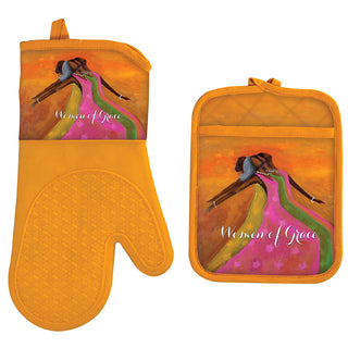 Women of Grace Oven Mitt and Pot Holder Set
