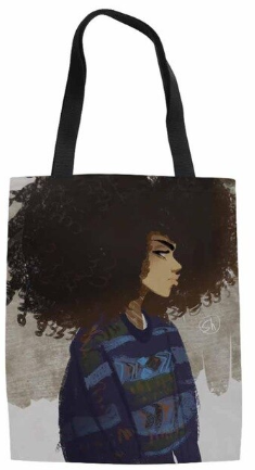 Young Afro Queen Tote Bag