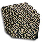 Mudcloth Coasters - Black