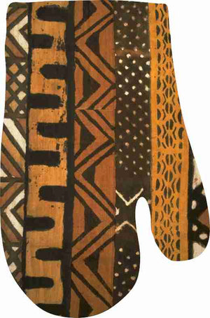 Mudcloth III Oven Mitt and Pot Holder Set