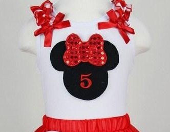 Minnie Inspired Number Premium Pettiskirt Set - Gabskia