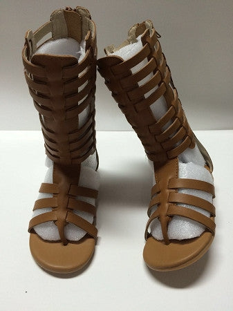 The Tessa Gladiator Sandals - Brown - Gabskia