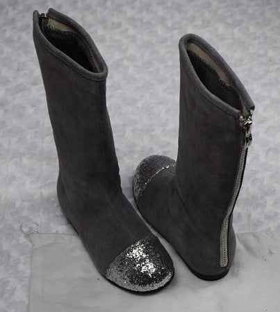 The Bella Tall Boots - Gray - Gabskia