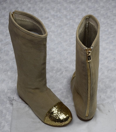 The Bella Tall Boots - Beige - Gabskia