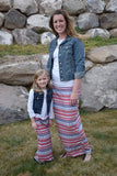Maxi Skirt Mommy - Red/Blue/White Aztec - Gabskia