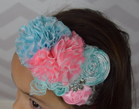 Bubble Gum Cluster Headband - Gabskia