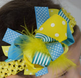 Sunnyside 6in Marabou Boutique Bow - Gabskia
