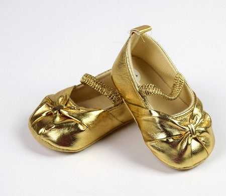 Metallic Leather Crib Shoes (MORE COLORS) - Gabskia