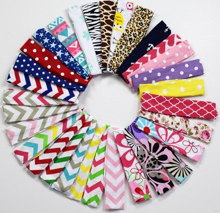 Fall Dots Big Bow Cotton Headband