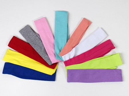 Solid Colors Girls Head Wraps (More Colors) - Gabskia