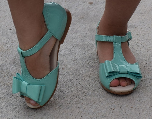 The Louise Bow Sandals - Aqua - Gabskia