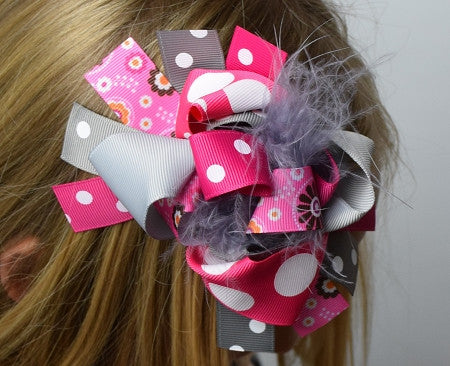 The Halle 6in Marabou Boutique Bow