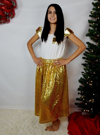 Mommy Maxi Skirt - Gold Sequin - Gabskia