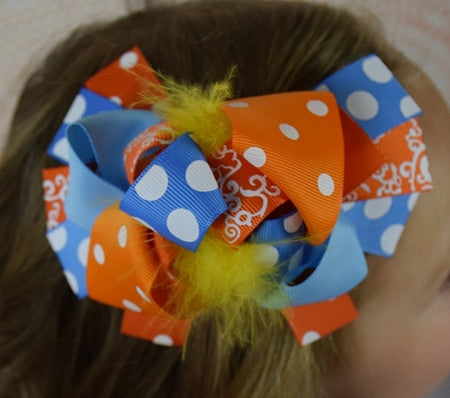 The Kandie 6in Marabou Boutique Bow - Gabskia