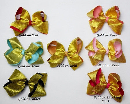 7in Double Ribbon Chunky Bow - Gabskia