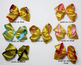 7in Double Ribbon Chunky Bow