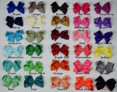 7in Chunky Bow (33 Colors) - Gabskia