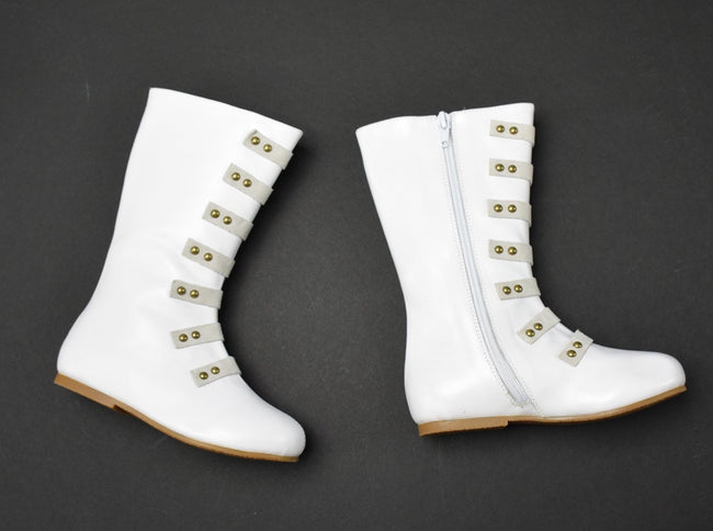 The Stella Leather Boot - Off White - Gabskia