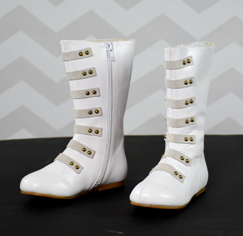 The Stella Leather Boot - Off White