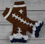 Football Leg Warmers with Satin Ruffles - Gabskia