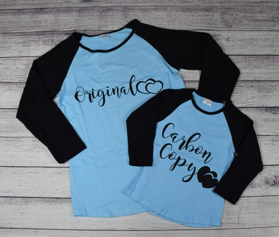 Original and Carbon Copy Mommy and Me Tops