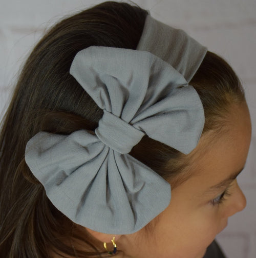 Big Bow Cotton Headband (Solid and prints) - Gabskia