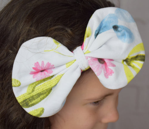 The Dream Cactus Big Bow Cotton Headband - Gabskia
