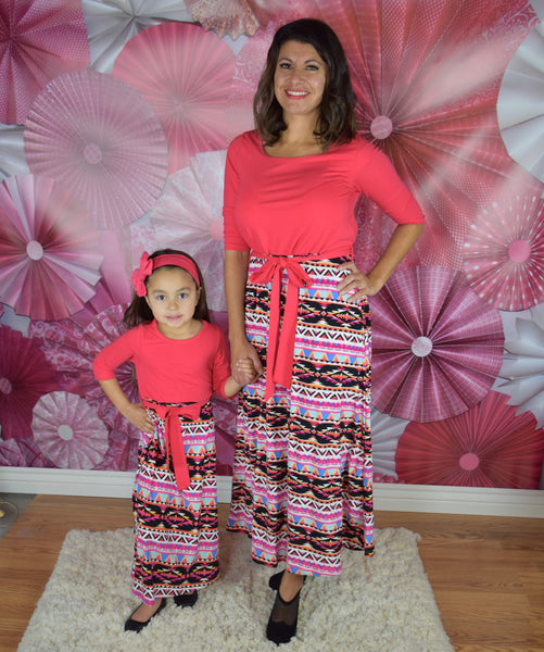 The Melia Aztec Mommy Dress - Gabskia
