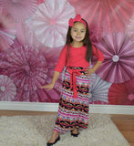 The Melia Aztec Girl Dress - Gabskia