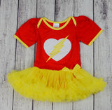 Flash Inspired Tutu Onesie - Gabskia