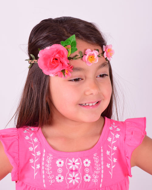 Braided Flower Crown w/Elastic - Gabskia