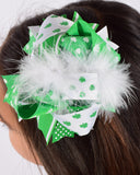 St Patricks 6in Marabou Boutique Bow - Gabskia