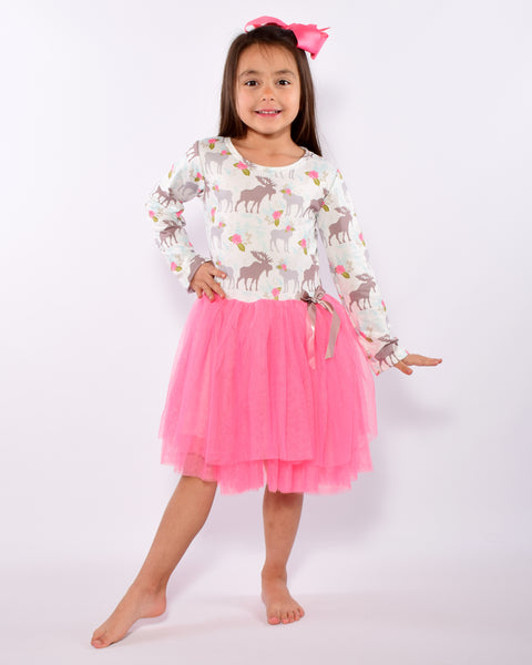 Spring Moose Tutu Dress - Gabskia