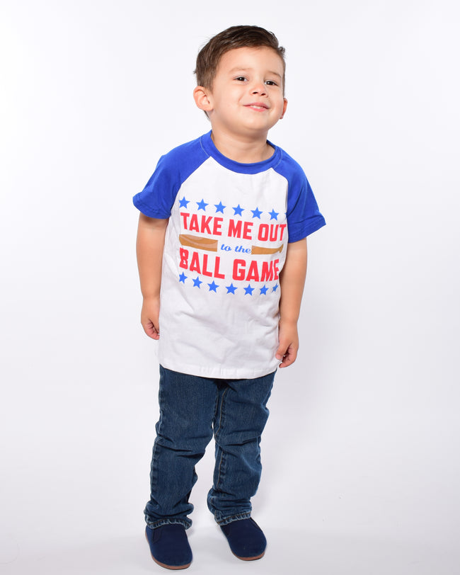 Take Me Out to the Ball Game Boy Tee - Gabskia