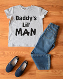 Daddy's Lil' Man Gray Short Sleeve Top - Gabskia