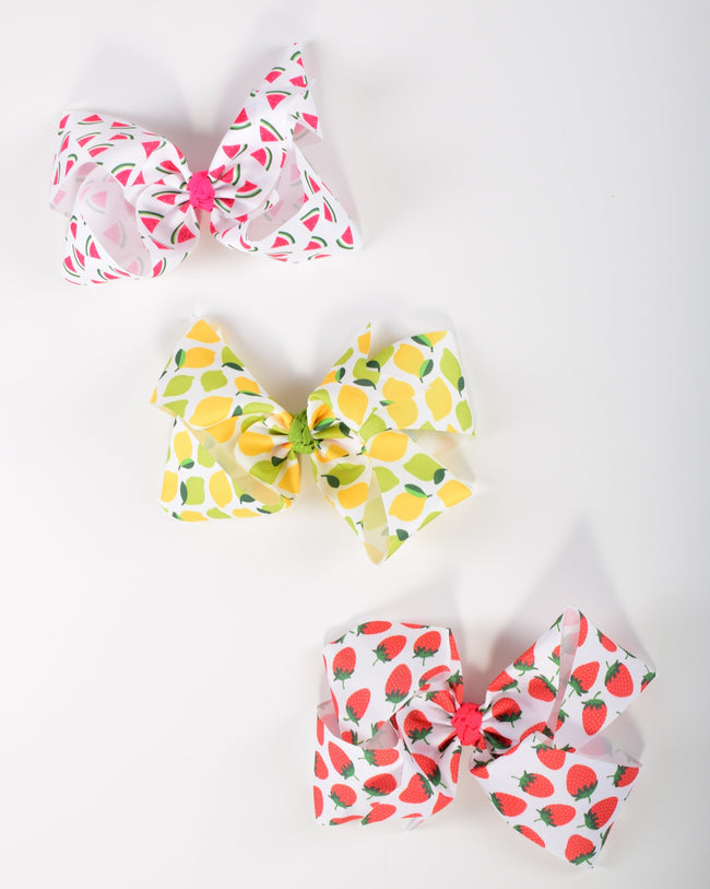 9in Chunky Bows - Fruit - Gabskia