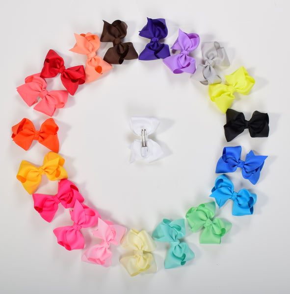 3in Chunky Bows - (Many Colors) - Gabskia
