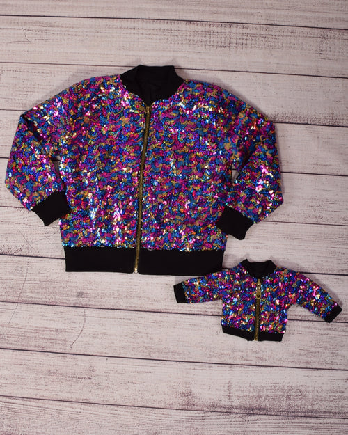 Sequin Bomber Jacket - Dolly and Me - Multi (sold separately)