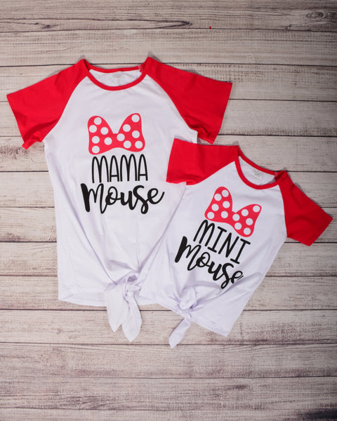 Mouse Inspired Mommy and Me Top (Sold Separately) - Gabskia