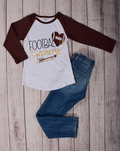 Football Princess Raglan Top - Gabskia