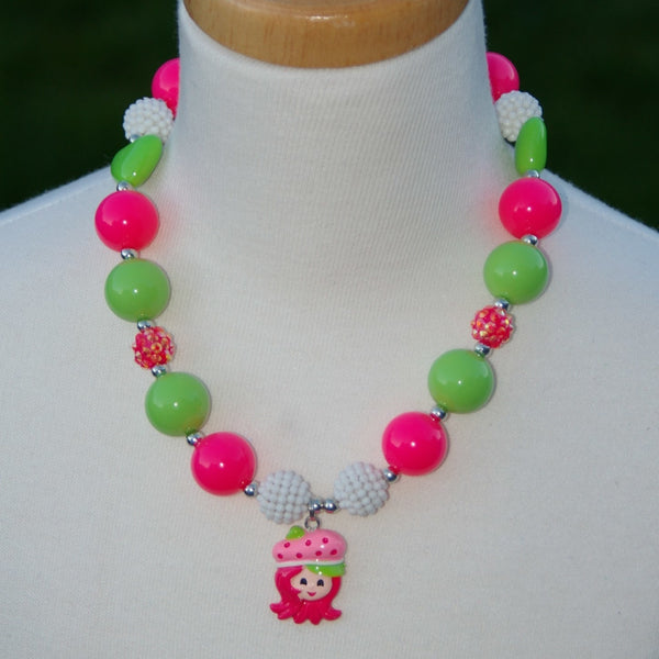 Strawberry Shortcake Characters Chunky Necklace (8 options) - Gabskia