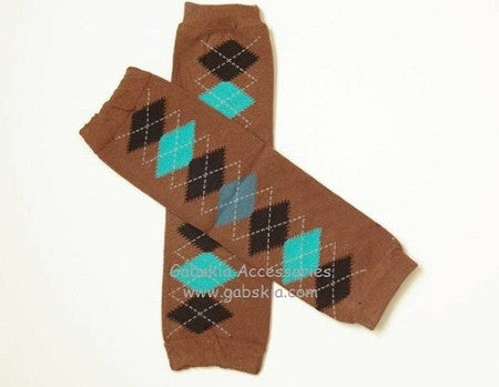Argyle Leg Warmer - Brown - Gabskia